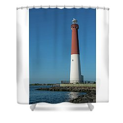 Barnegat Lighthouse And Inlet New Jersey Shower Curtain