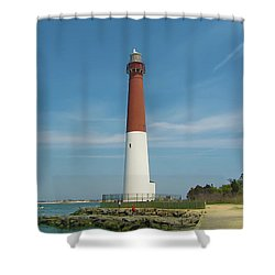 Barnegat Lighthouse Shower Curtain by Bill Cannon