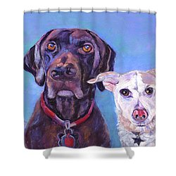 Barney And Casey Shower Curtain