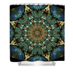Barnie Paw Prints Kaleidescope 6 Shower Curtain