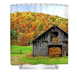 Barntifull Shower Curtain by Dale R Carlson