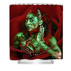 Baroque Meets Oriental Rose Shower Curtain