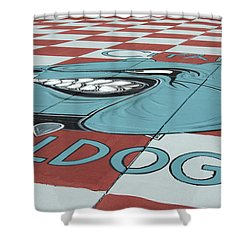Barracks Bulldog Shower Curtain