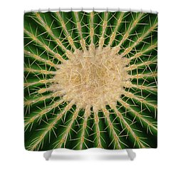 Barrel Cactus No. 6-1 Shower Curtain
