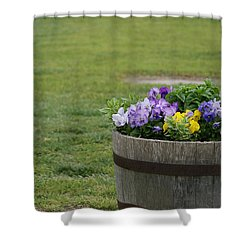 Barrel Of Flowers Shower Curtain