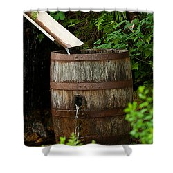 Barrel Of Water Shower Curtain