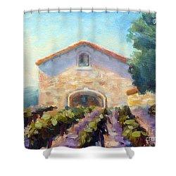 Barrel Room Shower Curtain