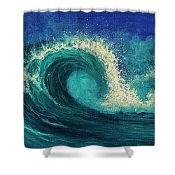 Shower Curtain featuring the painting Barrel Wave by Darice Machel McGuire