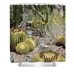 Barrels And Barrels Of Cactus Shower Curtain