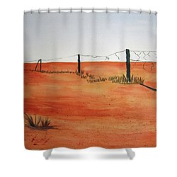 Barren Land Shower Curtain