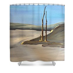 Shower Curtain featuring the painting Barren by Pat Purdy