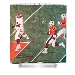 Arkansas V Miami, 1988 Shower Curtain