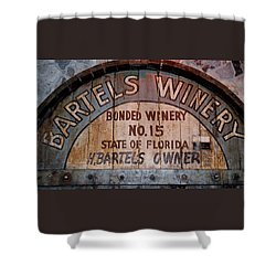 Bartels Winery Shower Curtain