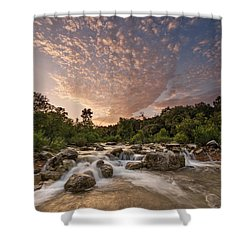 Shower Curtain featuring the photograph Barton Creek Greenbelt At Sunset by Todd Aaron