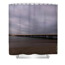 Shower Curtain featuring the photograph Barwon Heads Bridge by Linda Lees