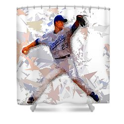 Shower Curtain featuring the painting Baseball 23 by Movie Poster Prints