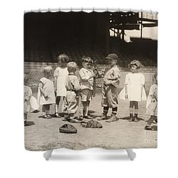 Baseball: Boys And Girls Shower Curtain by Granger