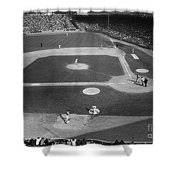 Baseball Game, 1967 Shower Curtain by Granger