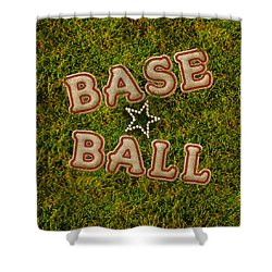 Baseball Shower Curtain by La Reve Design