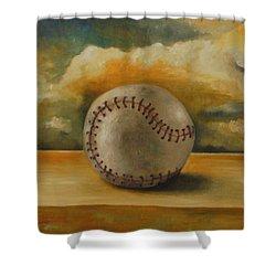Baseball Shower Curtain by Leah Saulnier The Painting Maniac