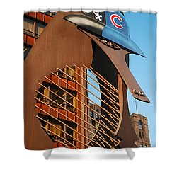 Baseball Picasso Shower Curtain