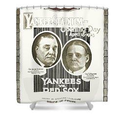 Baseball Program, 1923 Shower Curtain by Granger