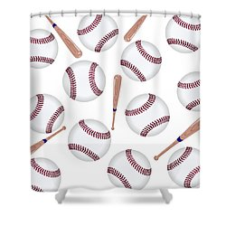 Baseball Toss Shower Curtain