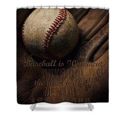 Baseball Yogi Berra Quote Shower Curtain