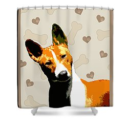 Basenji Shower Curtain by One Rude Dawg Orcutt