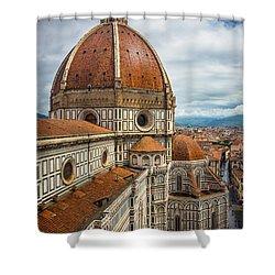 Basilica Di Santa Maria Del Fiore Shower Curtain by Inge Johnsson