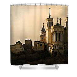Basilica Of Our Lady Of Fourviere  Shower Curtain by Katie Wing Vigil