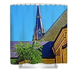 Basilica Of The Sacred Heart Notre Dame Shower Curtain by Dan Sproul