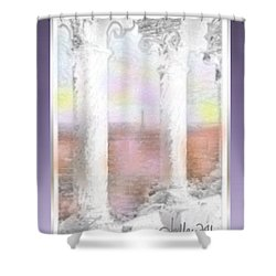 Sacre - Coeur Sunset Shower Curtain
