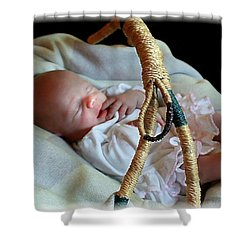 Basket Baby Shower Curtain by Ellen O'Reilly