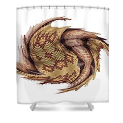 Basket Entering Black Hole Shower Curtain