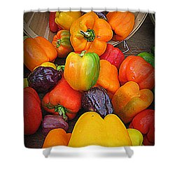 Basket Full O'peppers Shower Curtain