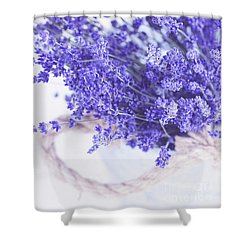 Basket Of Lavender Shower Curtain