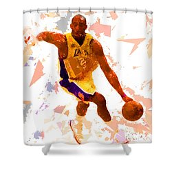 Shower Curtain featuring the painting Basketball 24 A by Movie Poster Prints