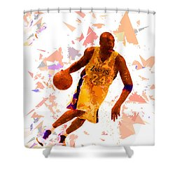 Shower Curtain featuring the painting Basketball 24 by Movie Poster Prints