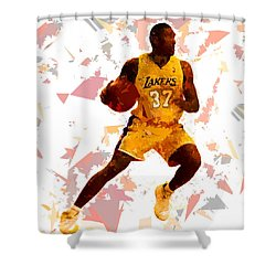 Shower Curtain featuring the painting Basketball 37 by Movie Poster Prints