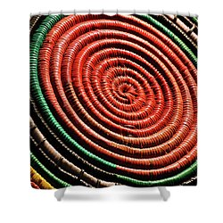 Basketry Color Shower Curtain