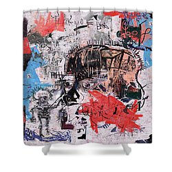 Basquiat Style Shower Curtain