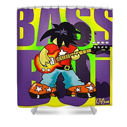 Bass Boi Shower Curtain