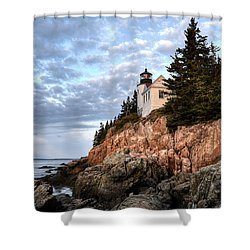Bass Harbor Light No. 1 - Maine - Acadia Shower Curtain