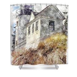 Bass Harbor Light Wc Shower Curtain