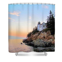 Bass Harbor Sunset II Shower Curtain