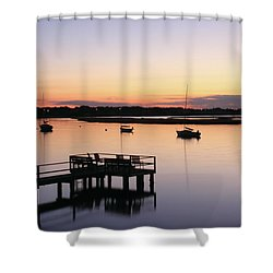 Bass River Before Sunrise Shower Curtain