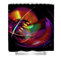 International Bass Station Shower Curtain