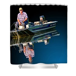 Bass Tracker Shower Curtain