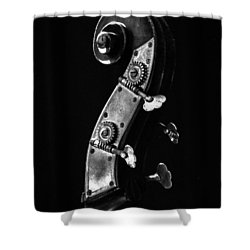 Bass Violin Shower Curtain by Julia Wilcox